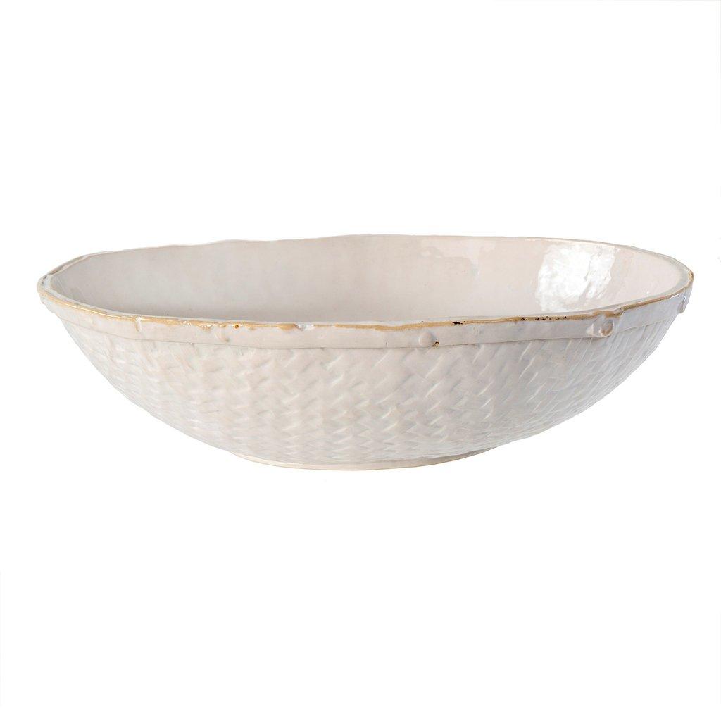 Basketweave Serving Bowls