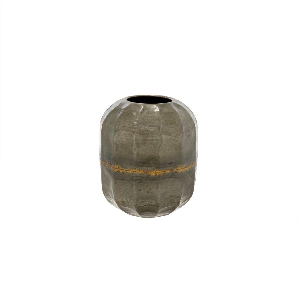 Tall Galvanized Iron Vases