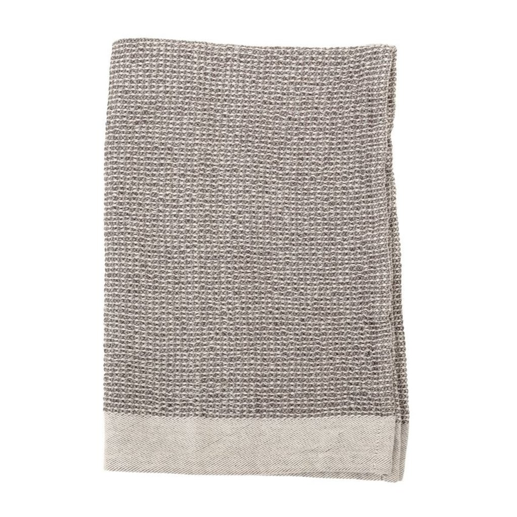 S/2 Grey Waffle Weave Kitchen Towels