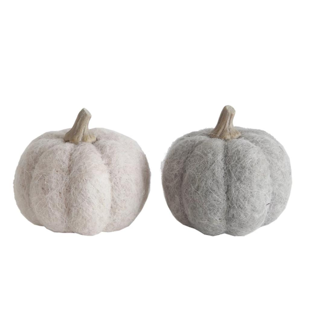 """3 1/2"""" Round Assorted Felt Pumpkins"""