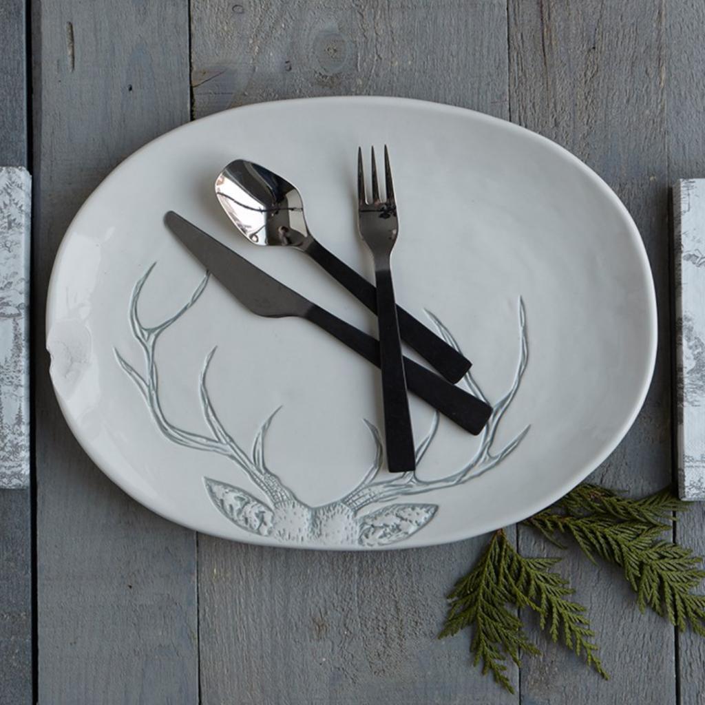 Large Antler Serveware Platter