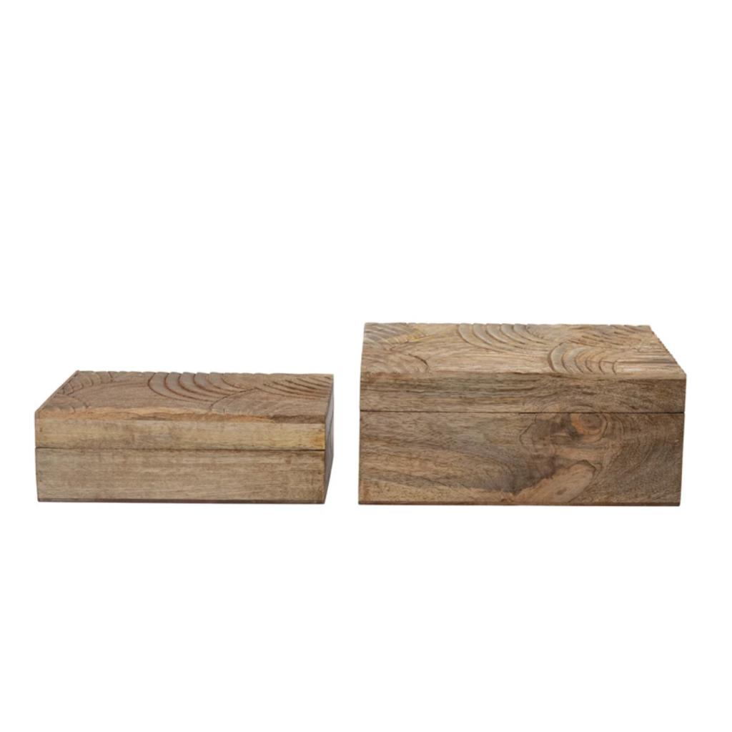 S/2 Mango Wood Boxes