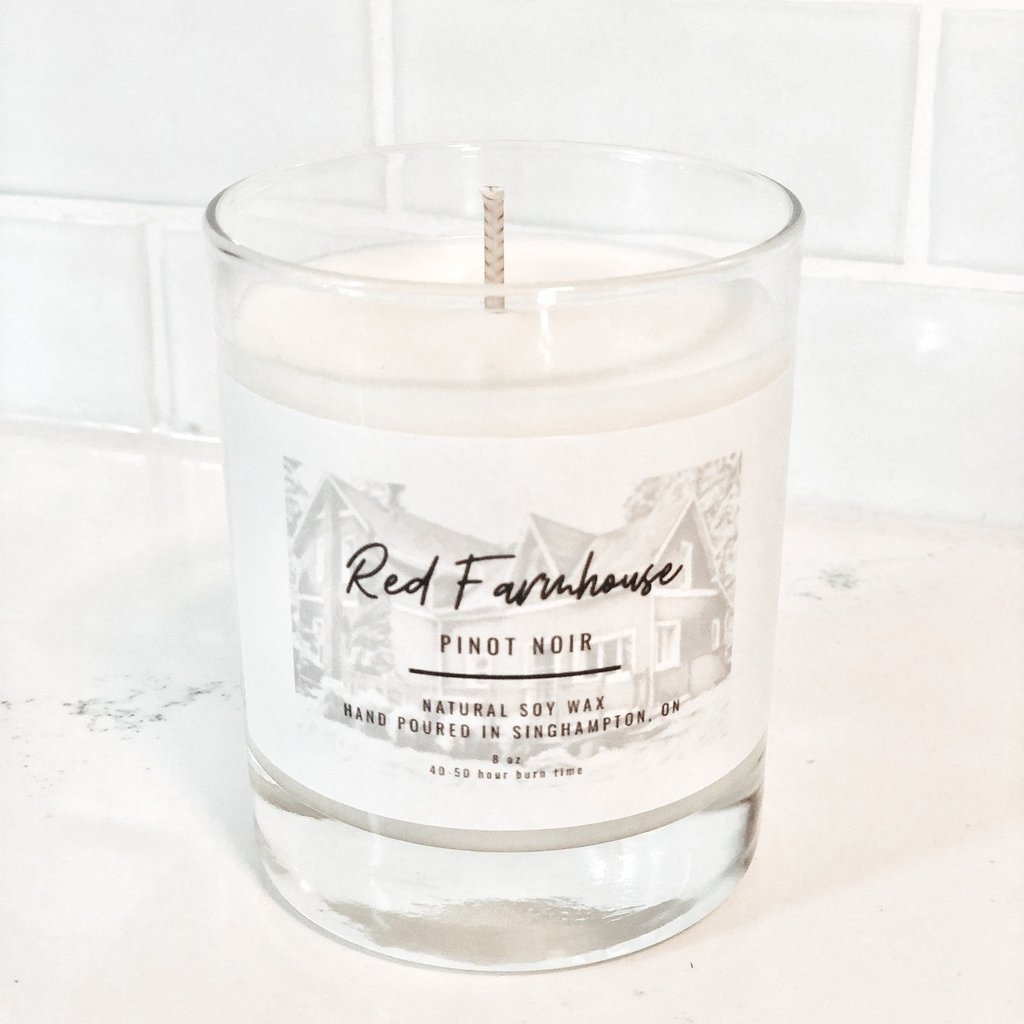 Red Farmhouse Candles