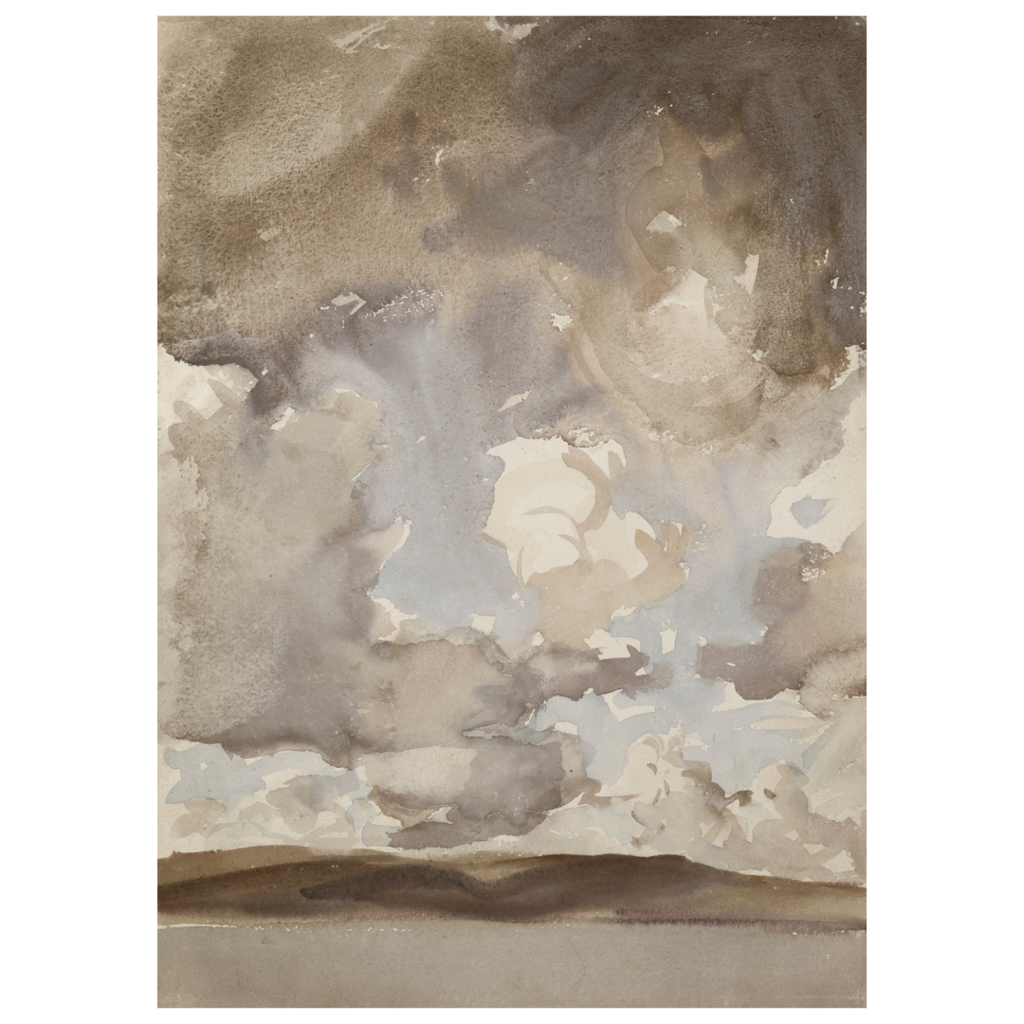 Framed Moody Clouds Print