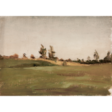 Framed Vintage Farm Fields Print