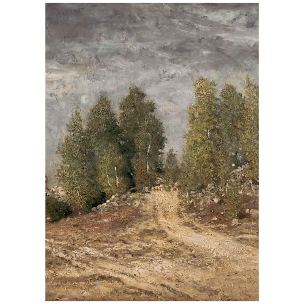 Framed Gravel Slope Print