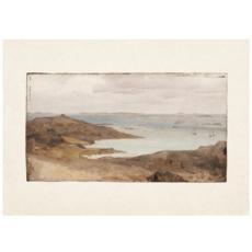 Framed Bordered Vintage Seascape Print