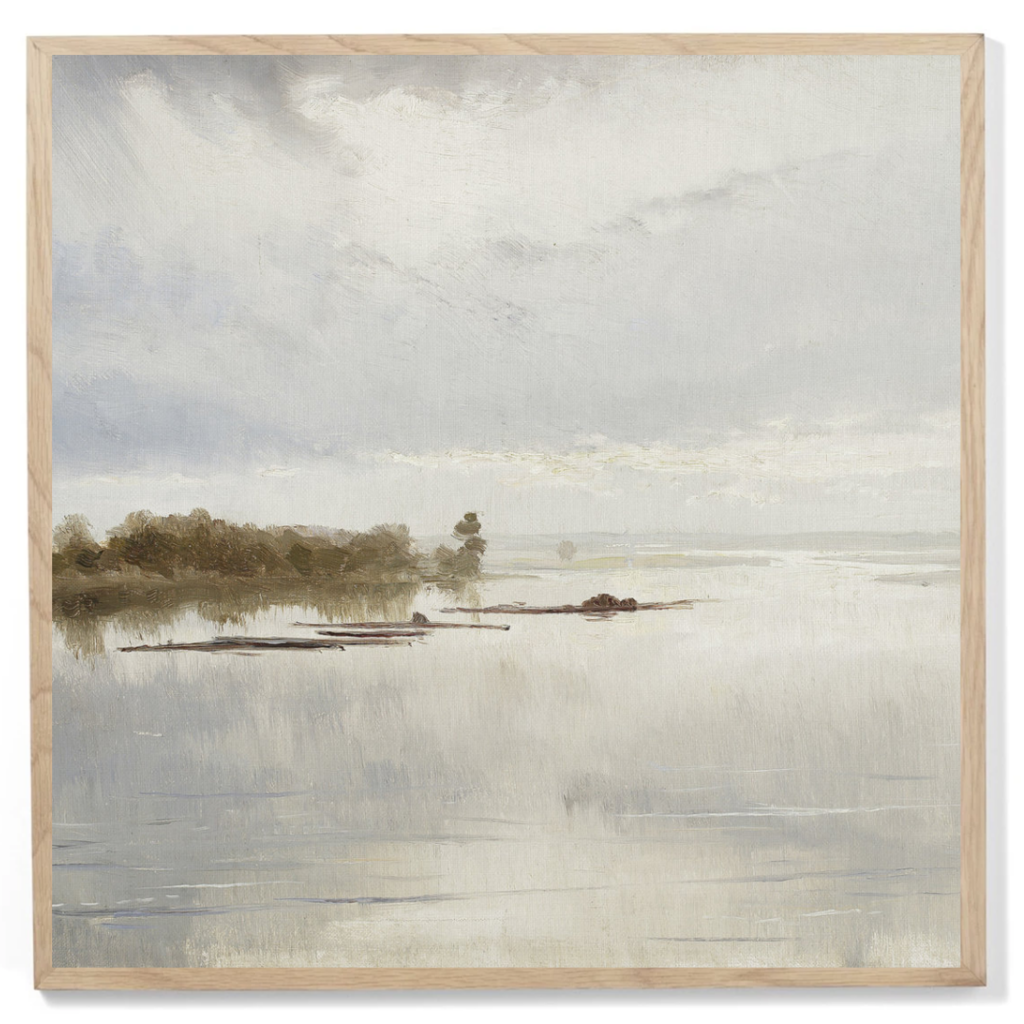 Framed Muted Tonal River Print