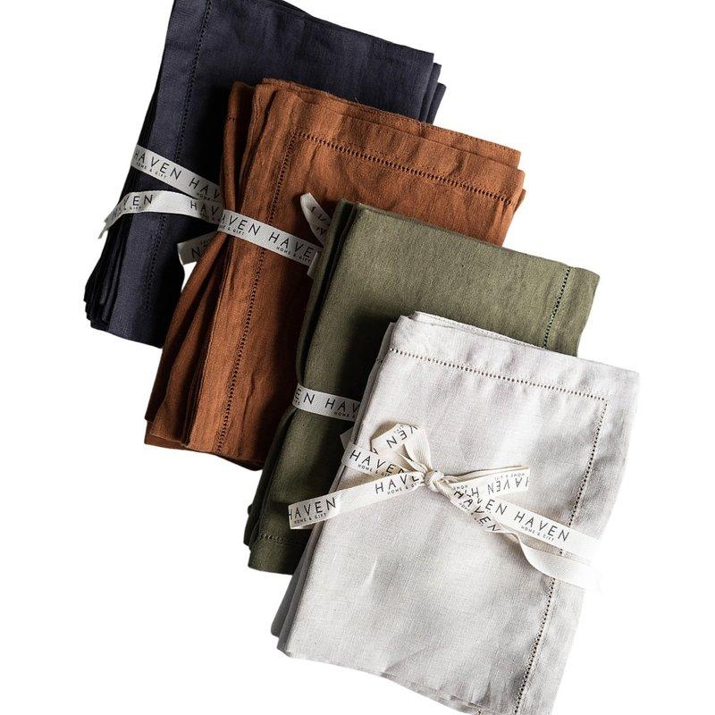 Hem Stitched Linen Placemats