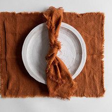 Fringed Linen Placemats