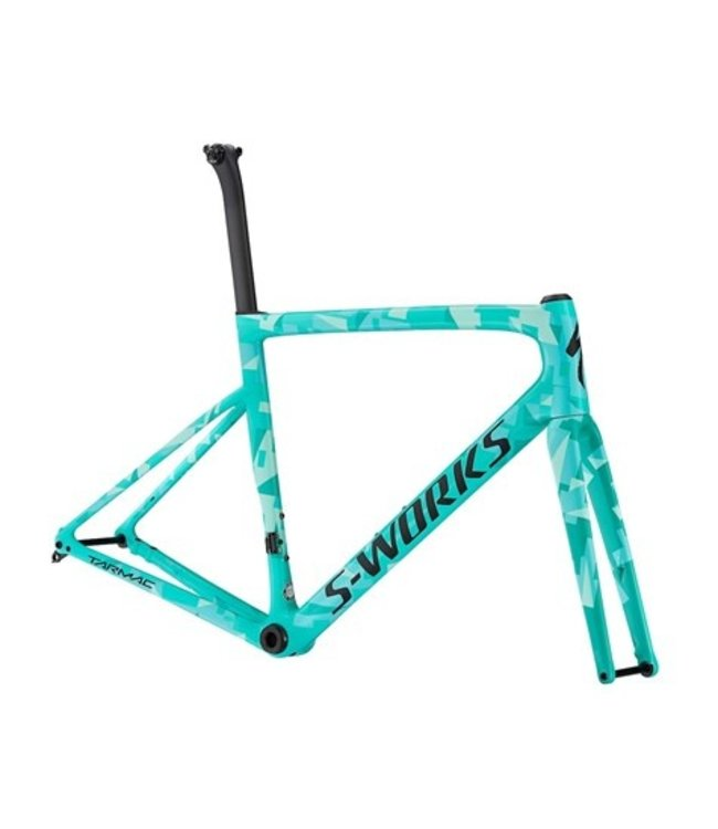 Specialized Pre-Owned: S-Works Tarmac SL6 Disc Frameset Gloss Acid Mint/Mint/Light 54