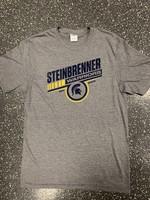 STEINBRENNER GREY ANGLED TEE
