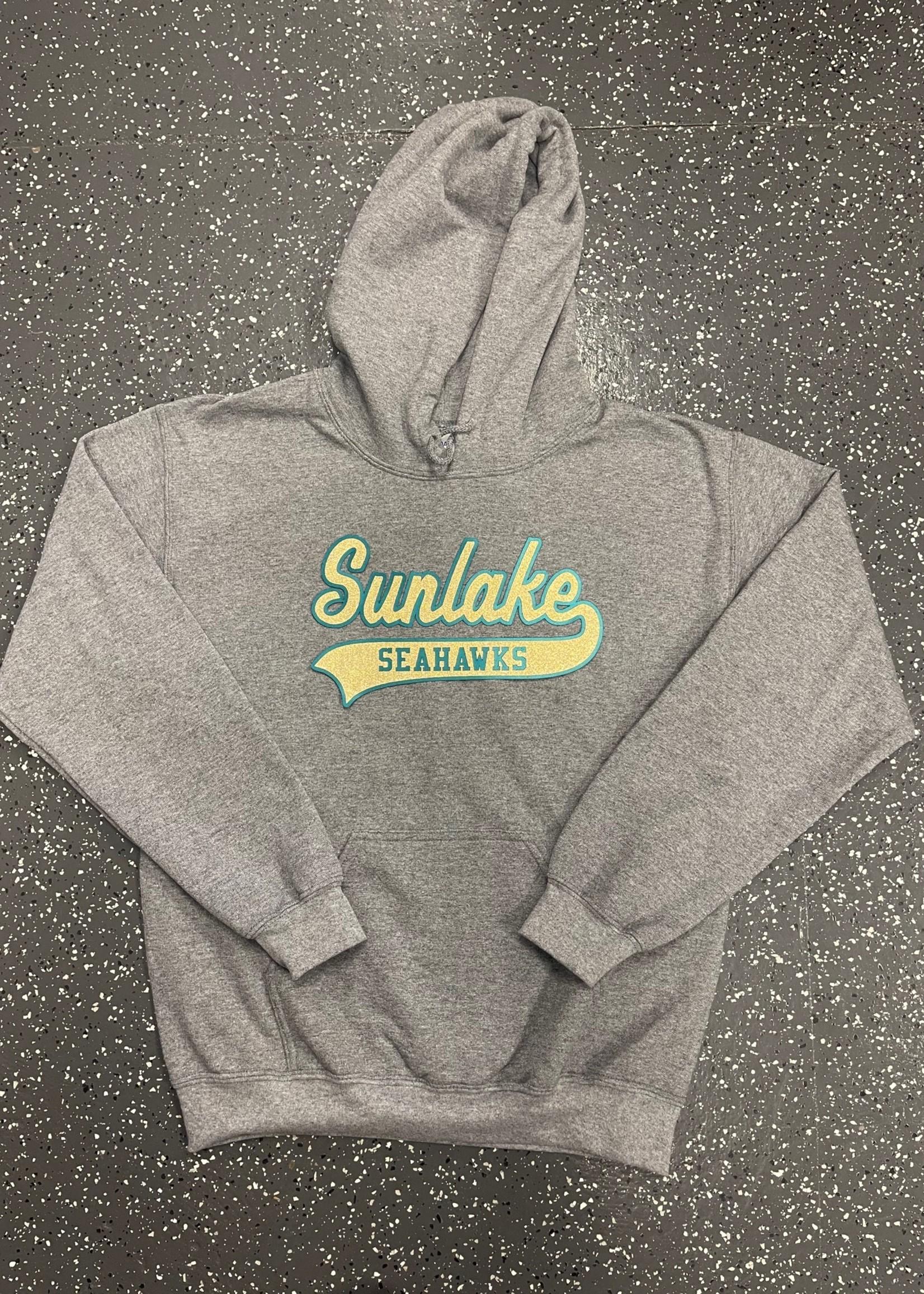 Sunlake Graphite Heather No-Sew Custom Hoodie