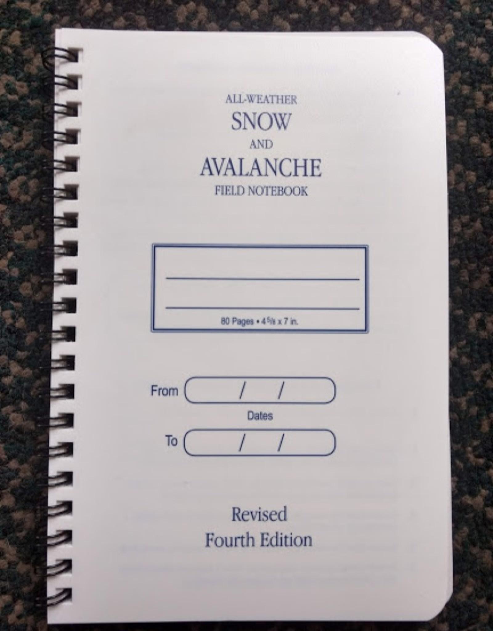 SNOW PIT TECH, AVAL/ SNOW PRO BOOK
