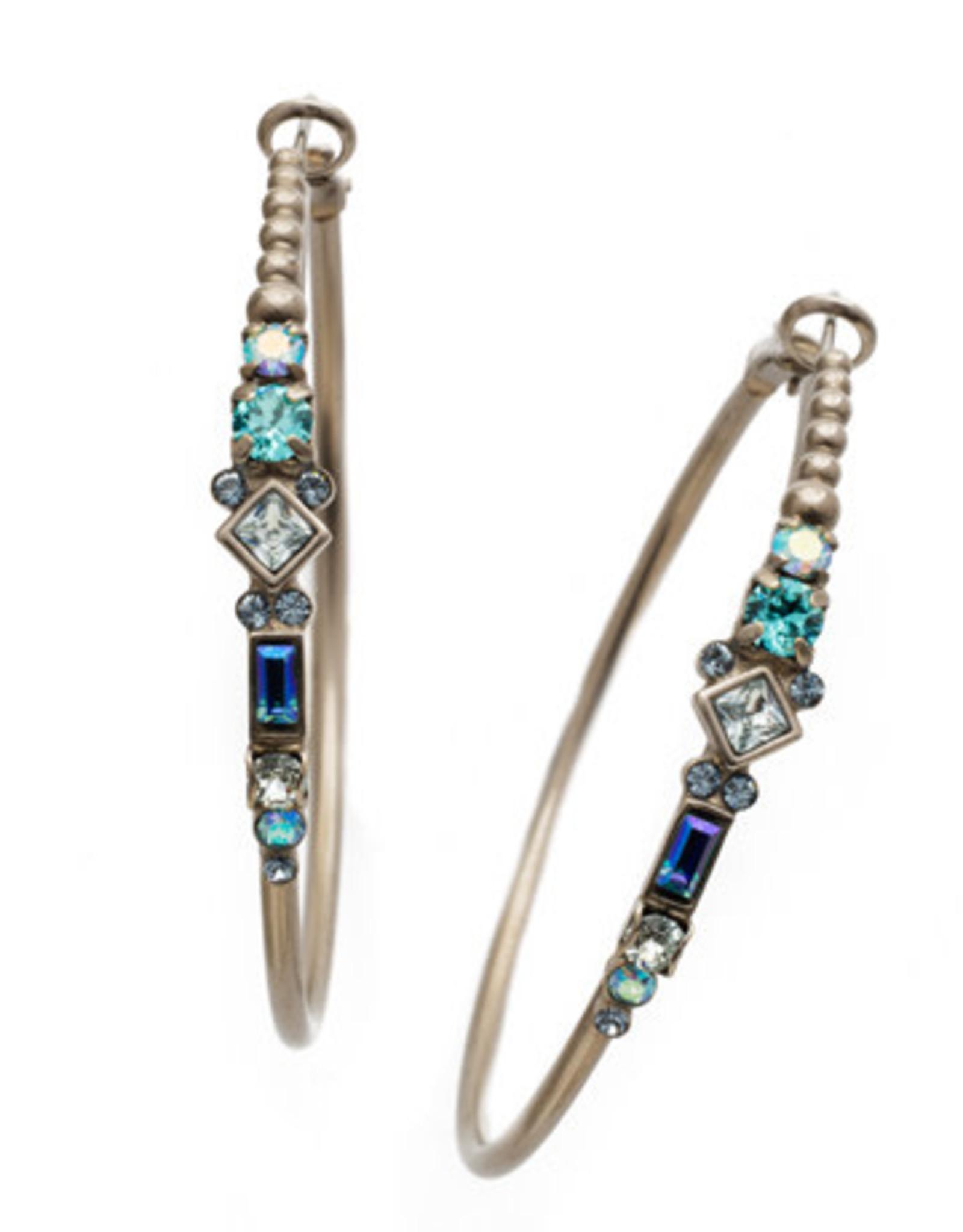 Sorrelli Blue Suede Briar Hoop Earring