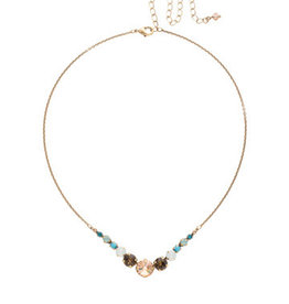 Sorrelli Driftwood Delicate Round Crystal Necklace
