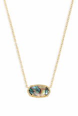 Kendra Scott Elisa Necklace - Abalone Shell/Gold