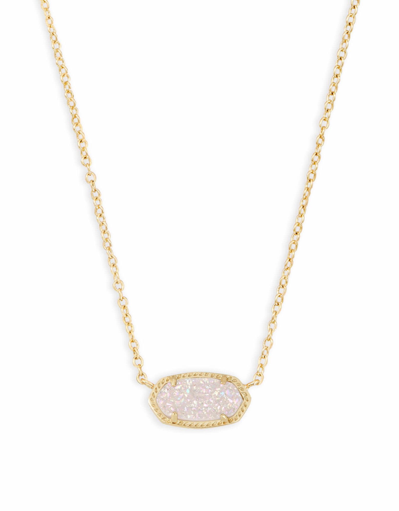 Kendra Scott Elisa Necklace - Iridescent Drusy/Gold