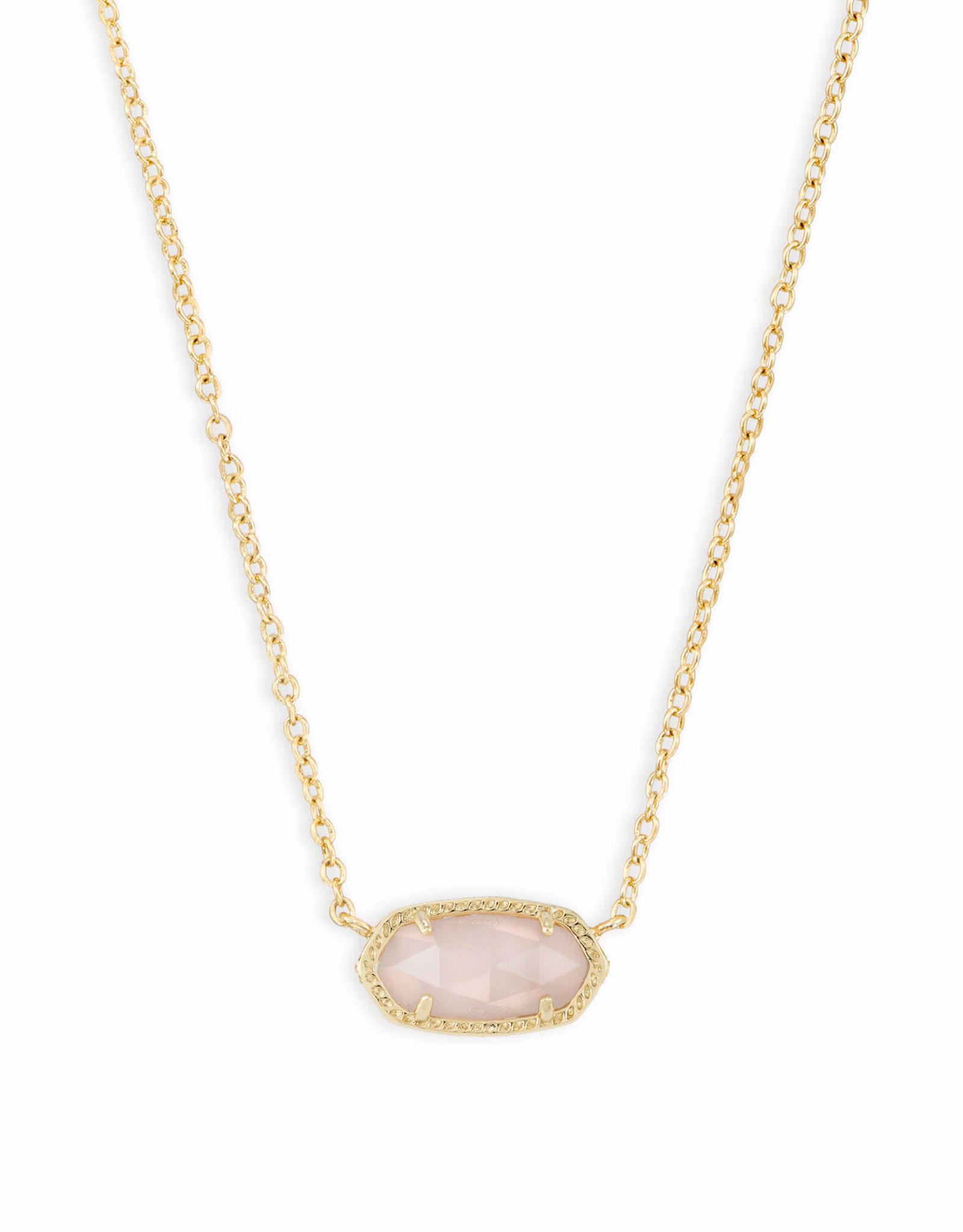 Kendra Scott Elisa Necklace - Rose Quartz/Gold
