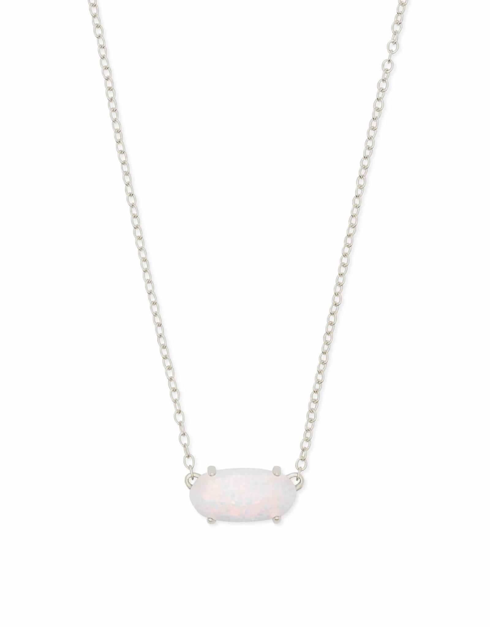 Kendra Scott Ever Necklace - White Opal/Rhodium