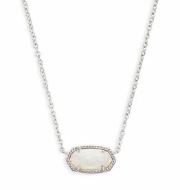 Kendra Scott Elisa Necklace - White Opal/Rhodium
