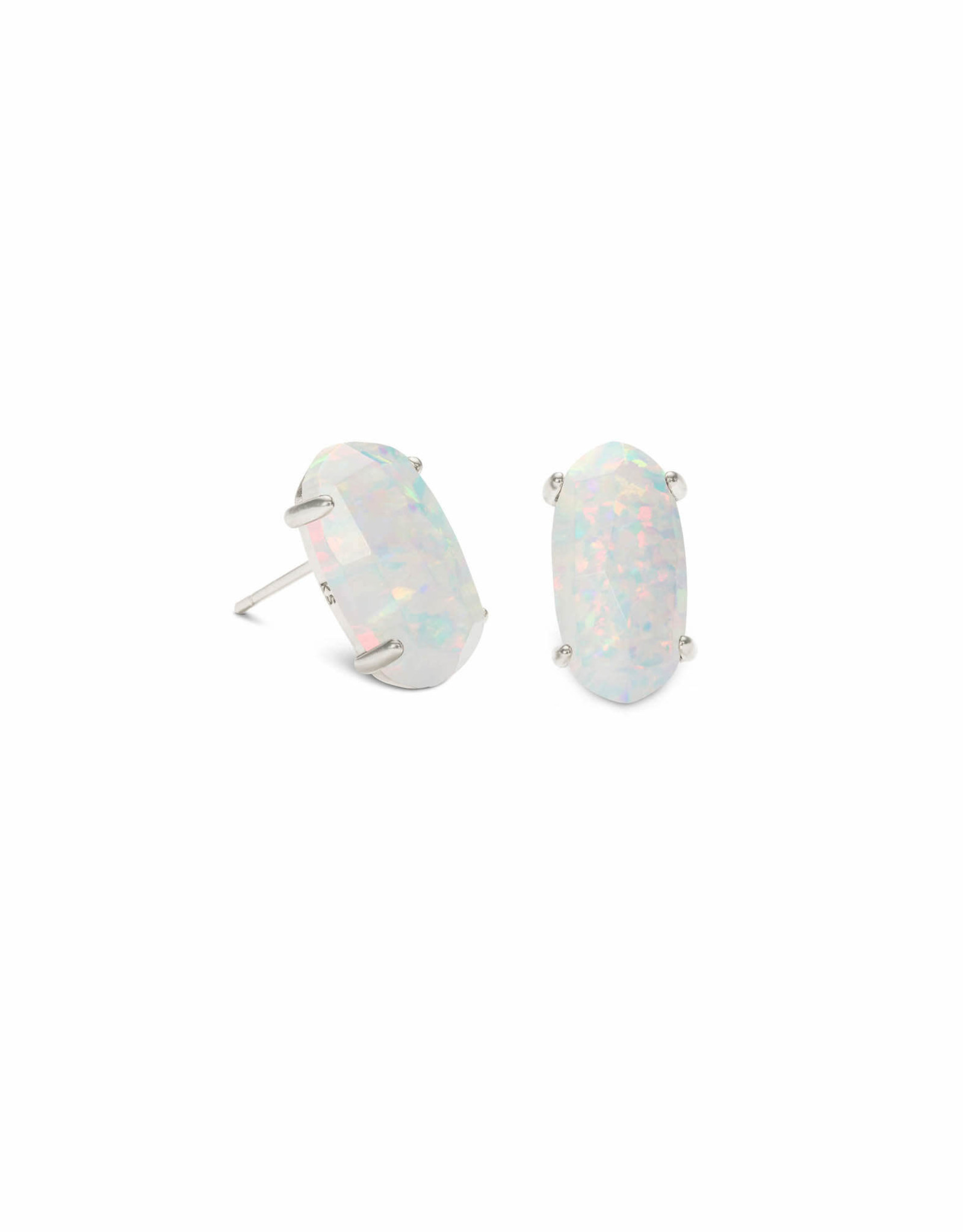 Kendra Scott Betty Earring - White Opal/Rhodium