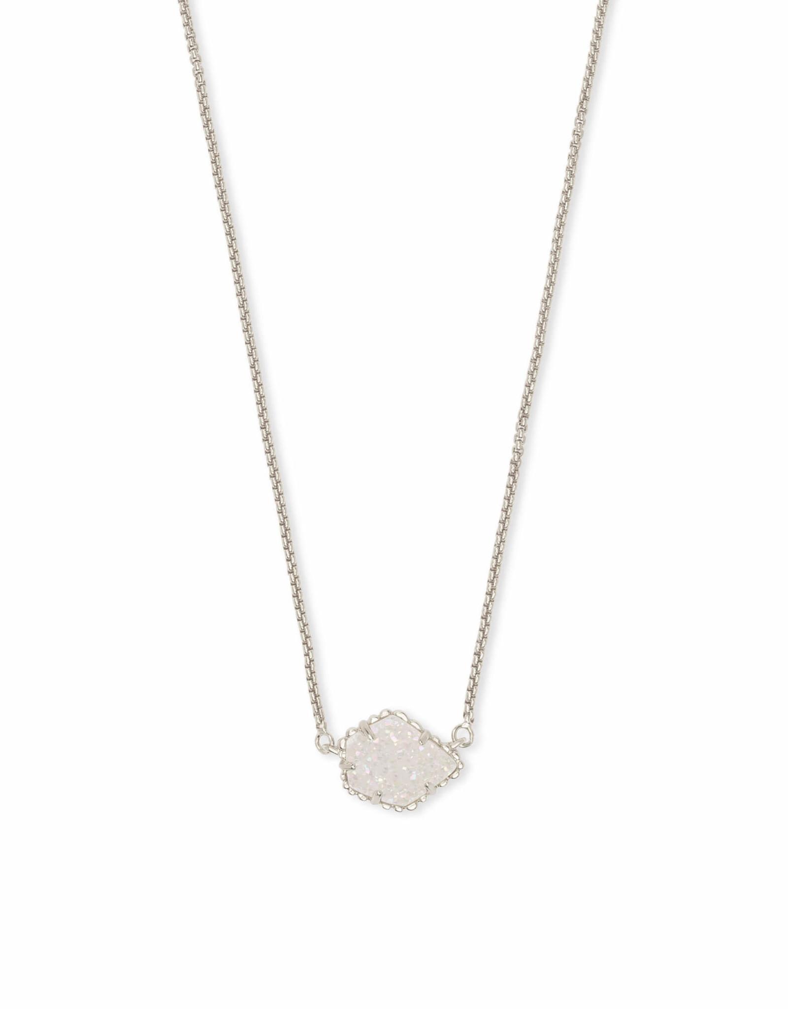 Kendra Scott Tess Necklace - Iridescent Drusy/Rhodium