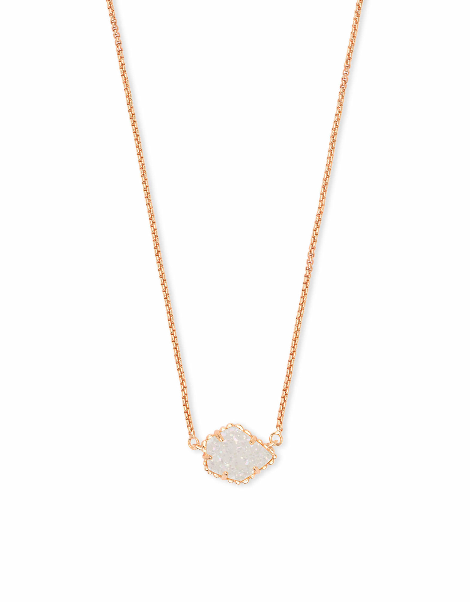 Kendra Scott Tess Necklace - Iridescent Drusy/Rose Gold