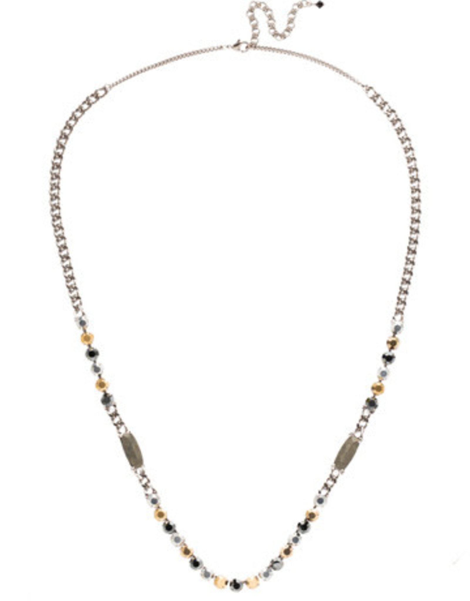 Sorrelli Heavy Metal Linked Crystal Strand Necklace