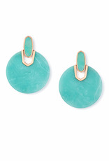 Kendra Scott Didi Earring - Teal Quartzite/Rose Gold
