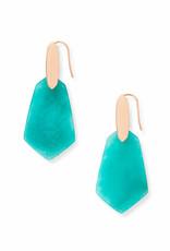 Kendra Scott Camila Earring - Teal Quartzite/Rose Gold