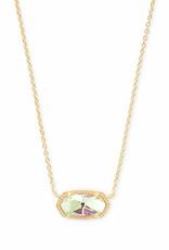 Kendra Scott Elisa Necklace - Dichroic Glass/Gold