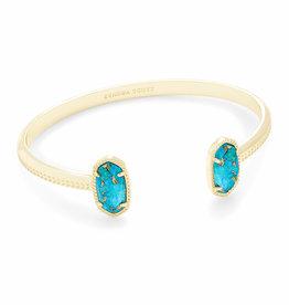 Kendra Scott Elton Bracelet - Bronze Veined Turquoise Magenesite/Gold