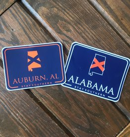 The State Company AU Alabama Patch Decal