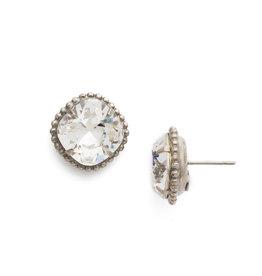 Sorrelli EBX10ASCRY - Crystal Cushion Cut Solitaire Earring