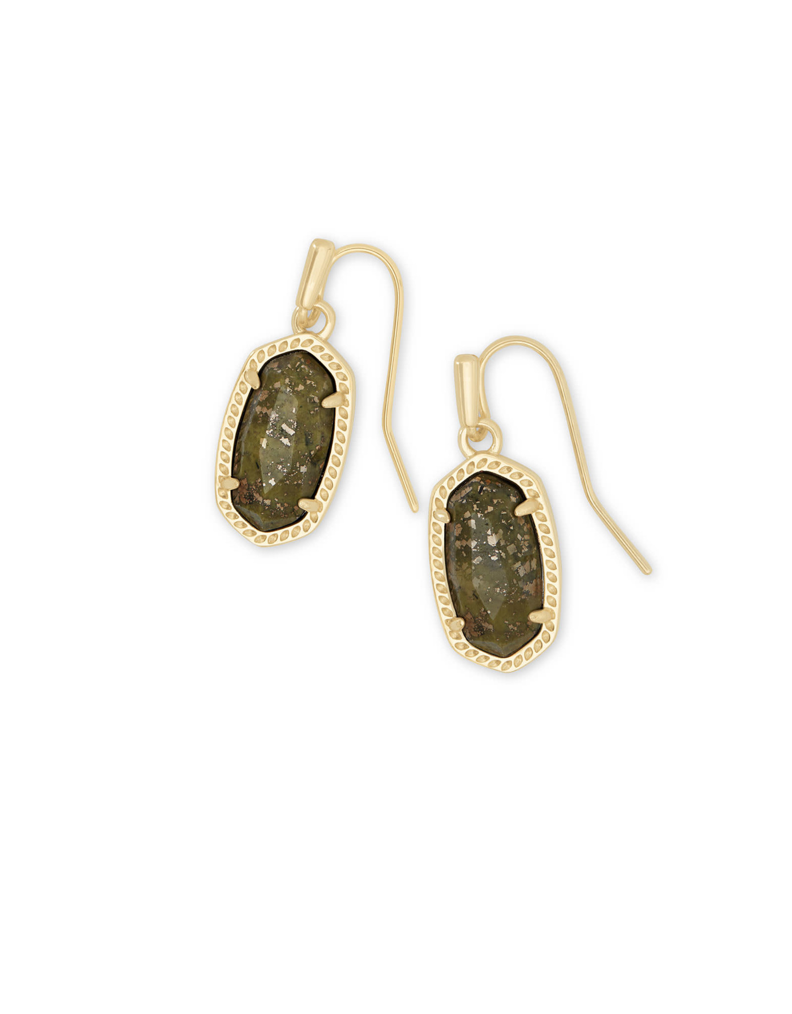 Kendra Scott Lee Earring - Olive Epidote/Gold