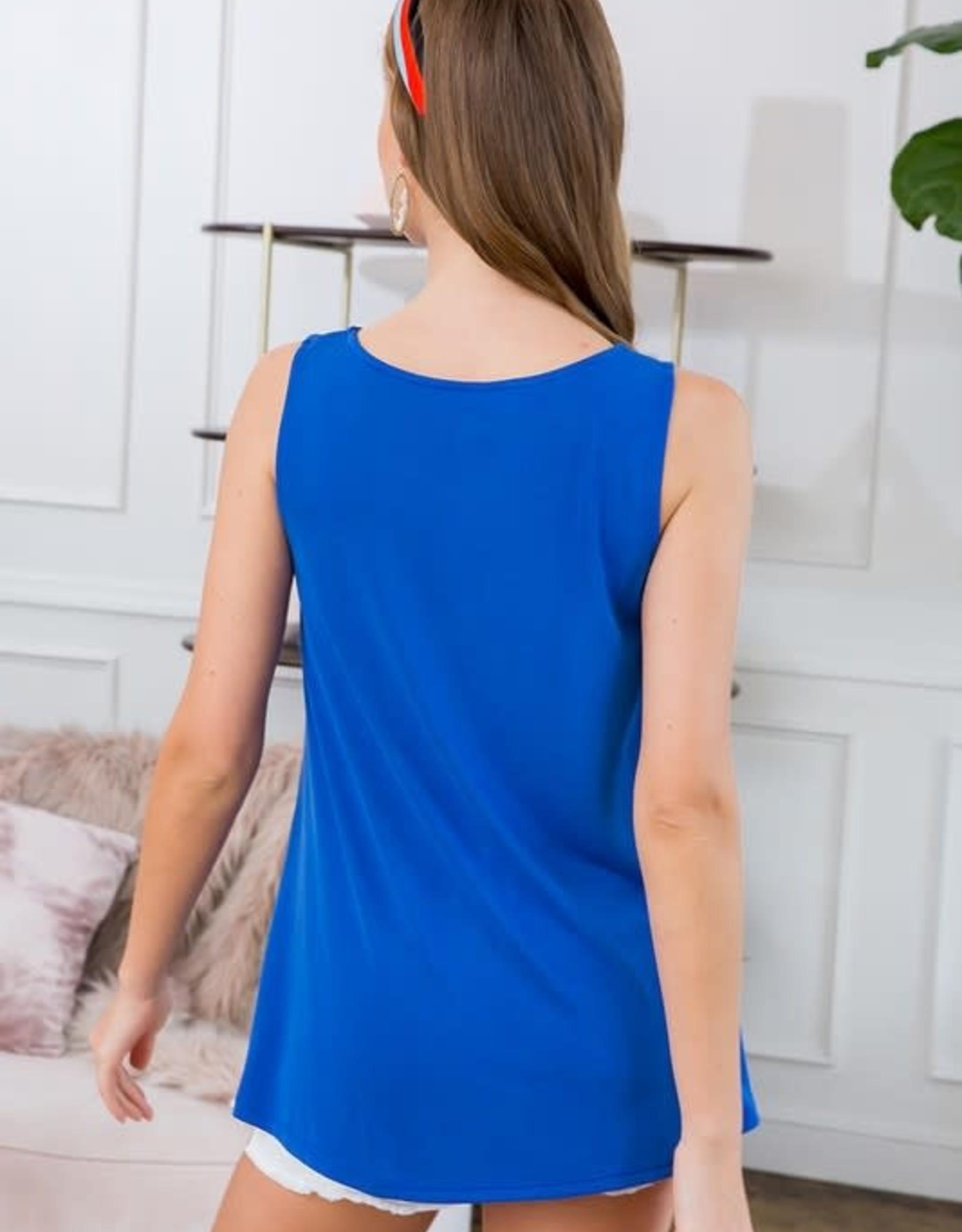Ladies' Fashions Sleeveless Side Twist Tunic