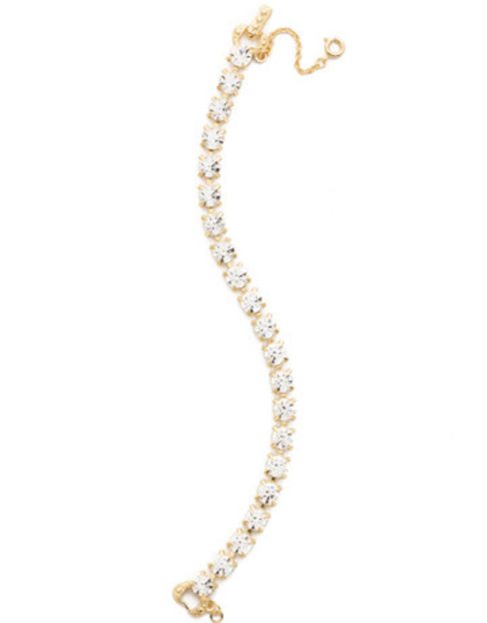 Sorrelli BCZ36BGCRY - Crystal Repeating Round Crystal Line Bracelet