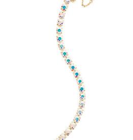Sorrelli BCZ36BGCAB - Crystal Repeating Round Crystal Line Bracelet