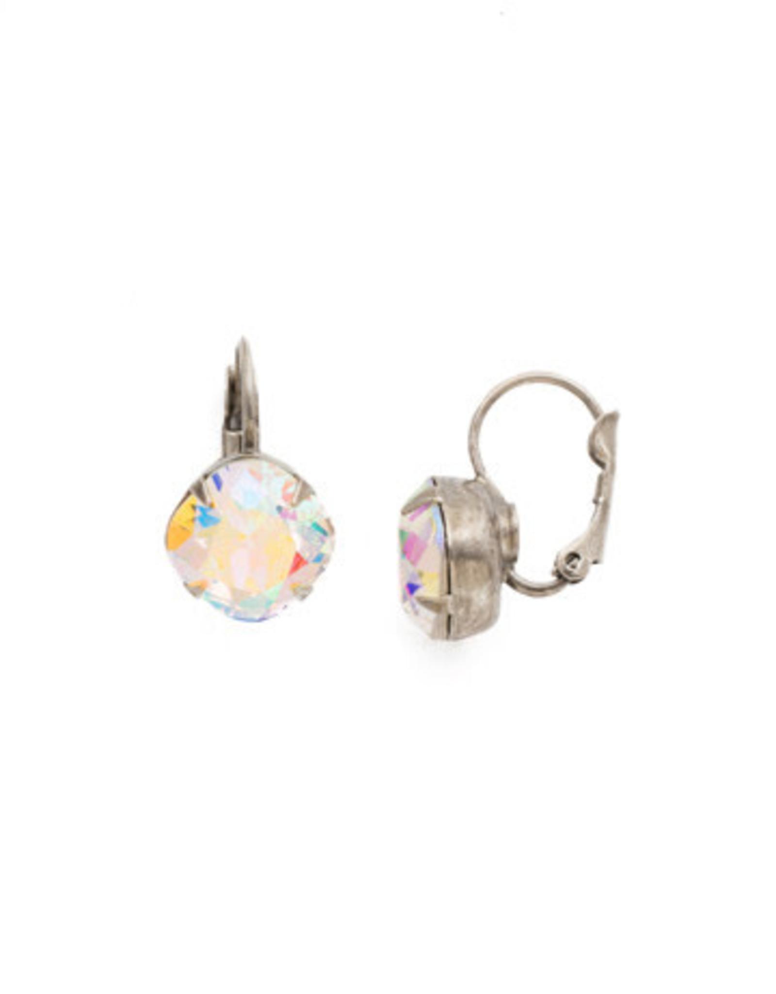 Sorrelli EDL12ASCAB - Crystal Aurora Borealis Cushion Cut French Wire Earring