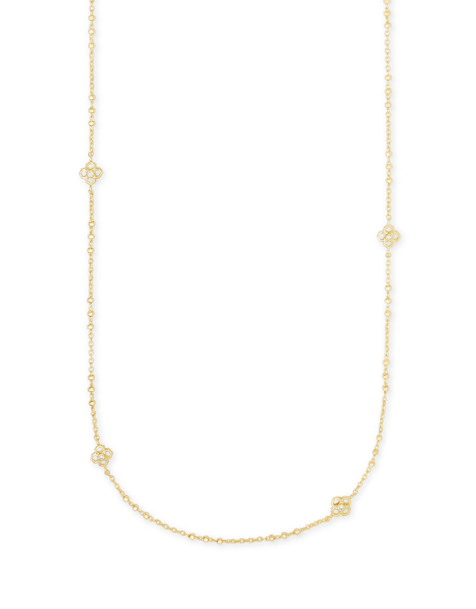 Kendra Scott Rue Long Strand Necklace - Gold Metal