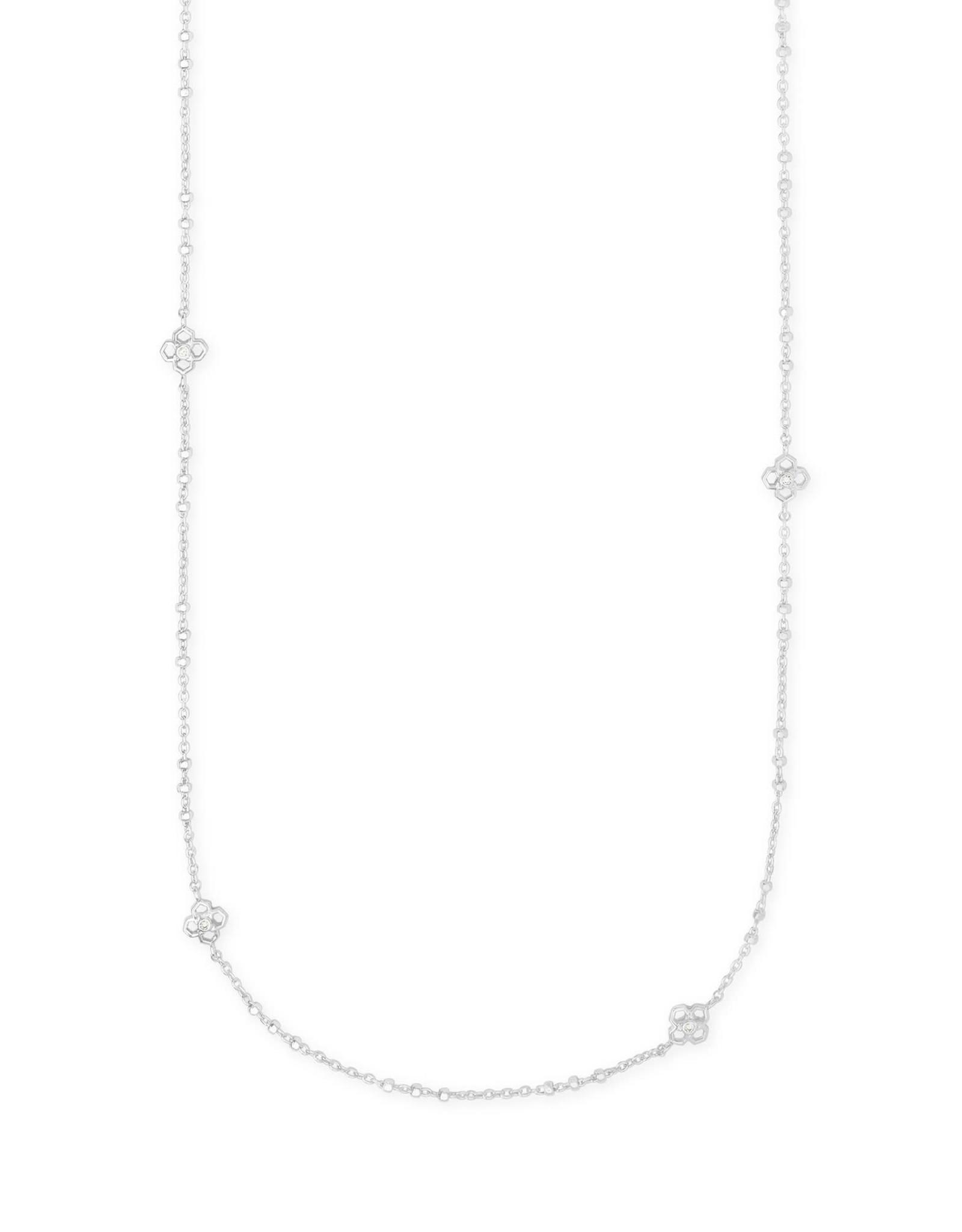 Kendra Scott Rue Long Strand Necklace - Rhodium Metal