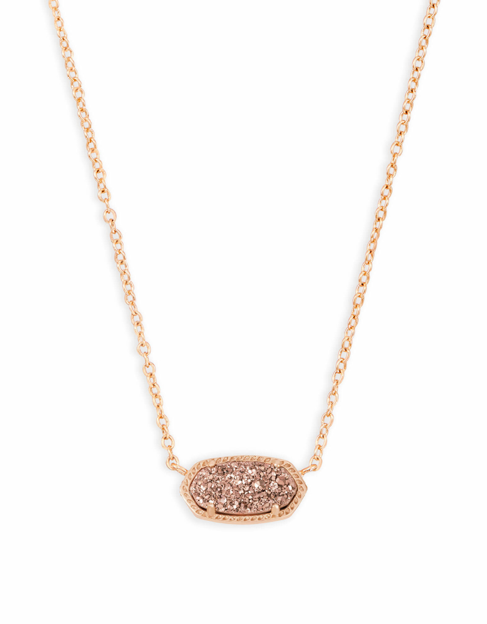 Kendra Scott Elisa Necklace - Rose Gold Drusy/Rose Gold