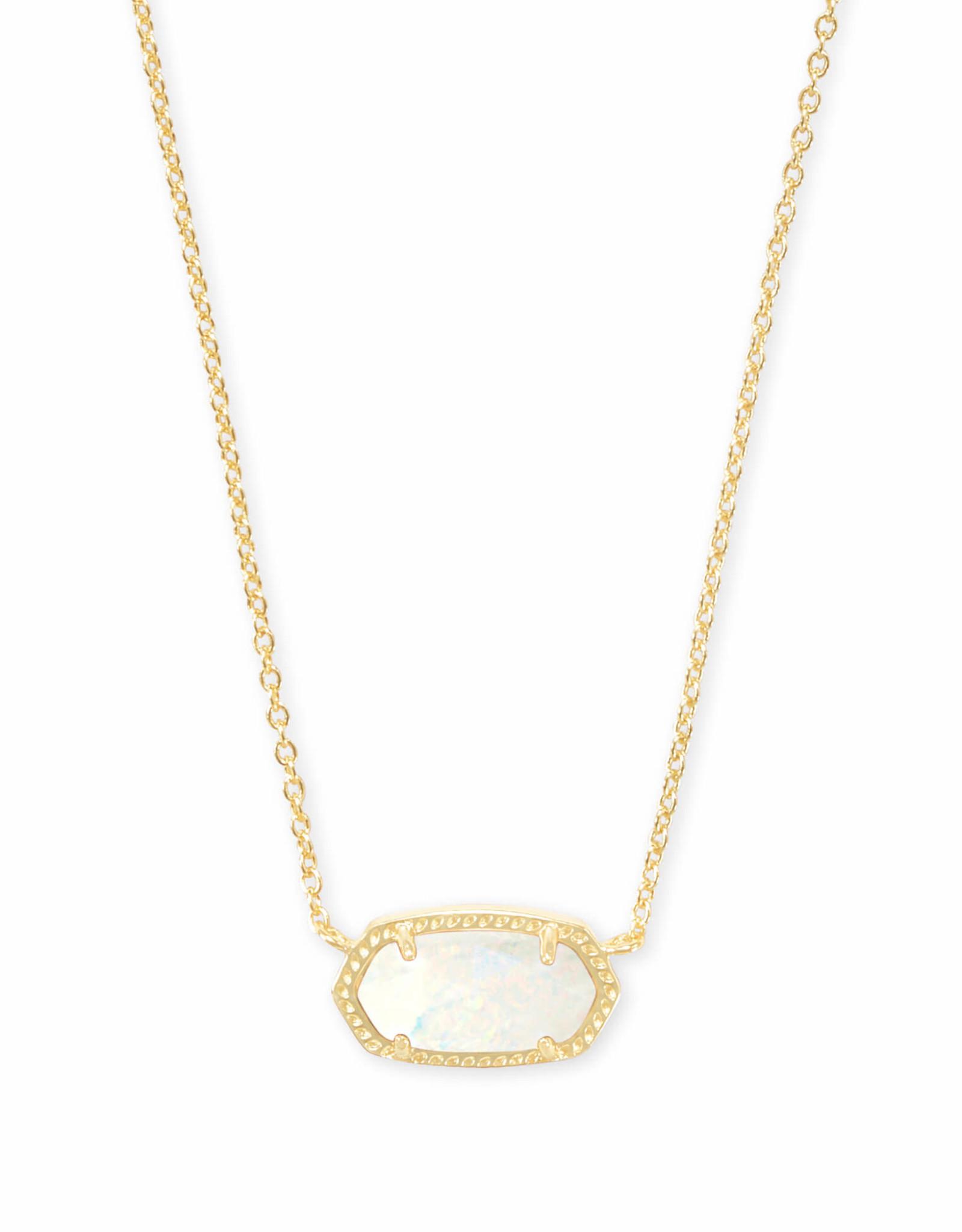 Kendra Scott Elisa Necklace - White Kyocera Opal/Gold