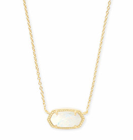 Kendra Scott Elisa Necklace - White Kyocera Opal/Gold