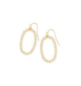 Kendra Scott Elle Open Frame Earring - White CZ/Gold