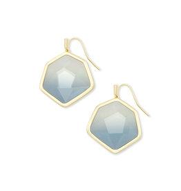 Kendra Scott Vanessa Drop Earring - Steel Gray Ombre/Gold