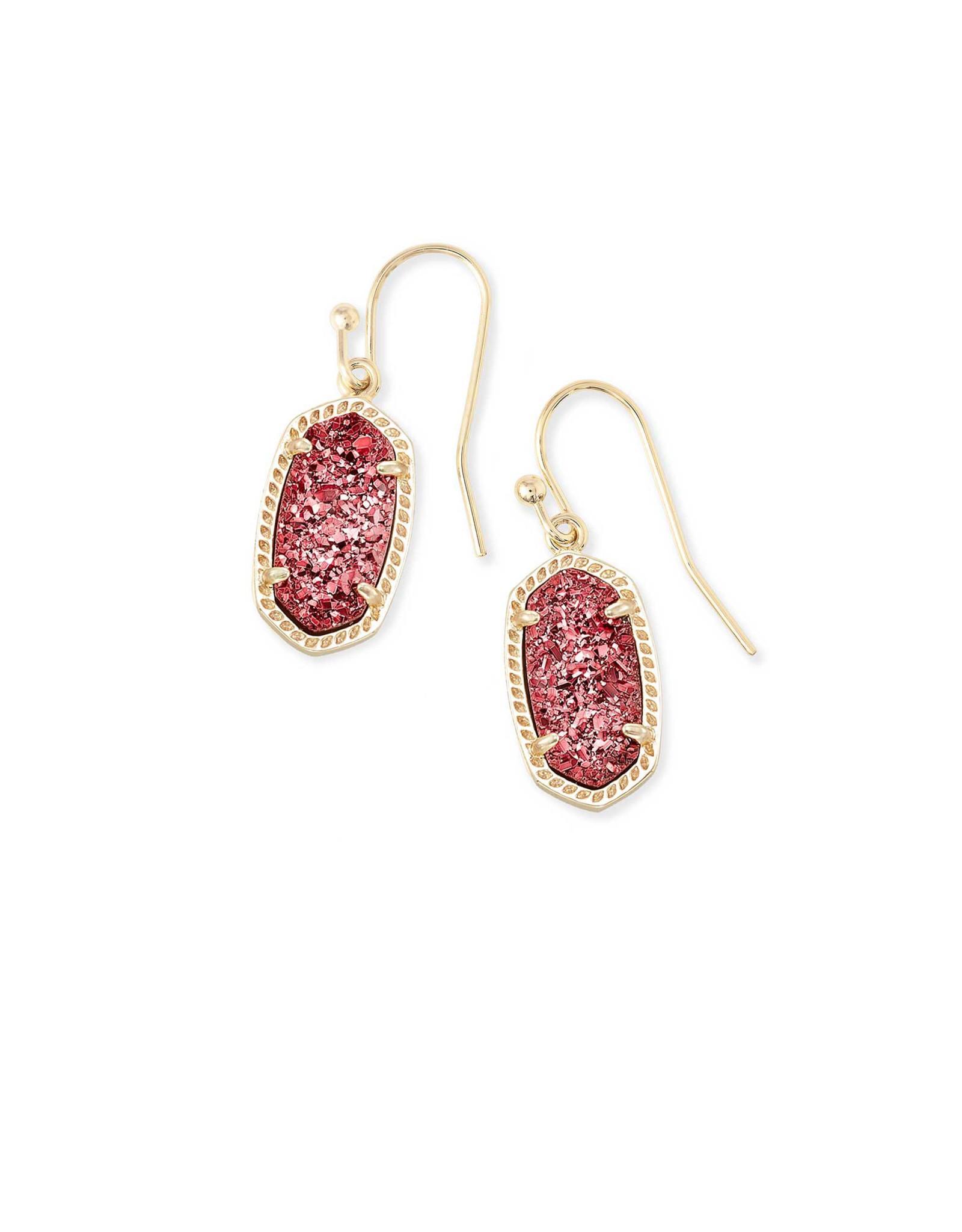 Kendra Scott Lee Earring - Raspberry Drusy/Gold