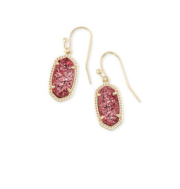 Kendra Scott Lee Earring - Raspberry Drusy/Gold