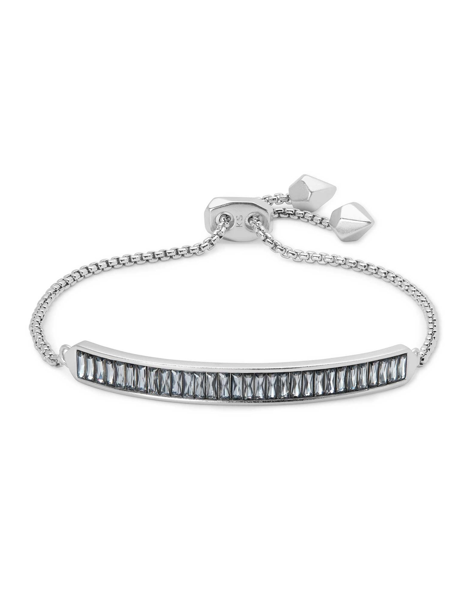 Kendra Scott Jack Delicate Chain Bracelet - Gray Crystal/Rhodium